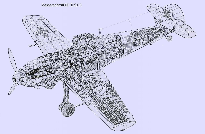Messerschmitt Bf.109 - истребитель Мессершмитт Ме 109, 1937 год (Германия)