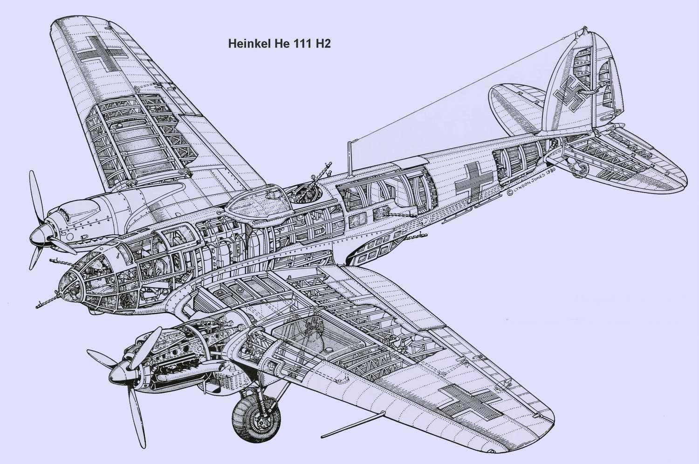 Heinkel He 111 - средний бомбардировщик Хейнкель He 111, 1935 год (Германия)