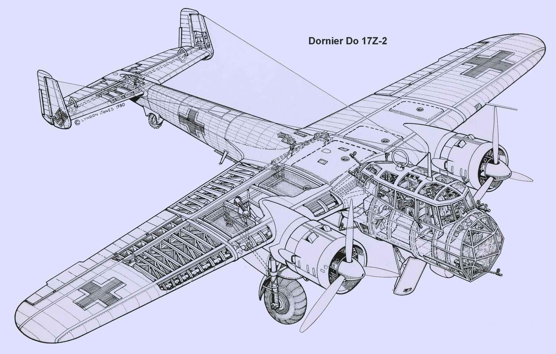 Dornier Do 17 - средний бомбардировщик Дорнье Do 17, 1937 год (Германия)