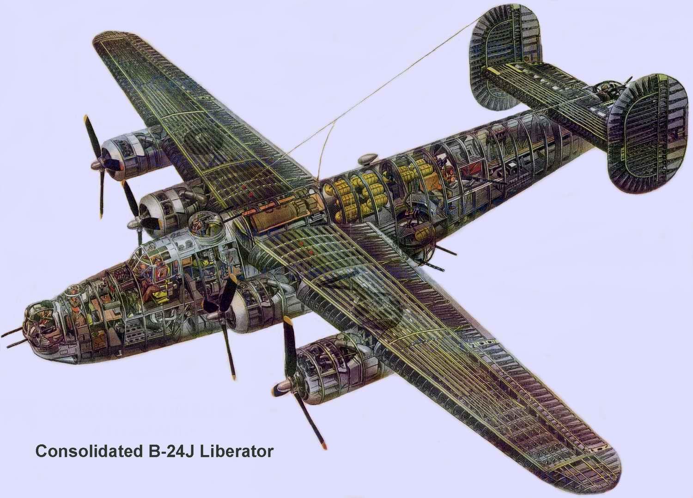 Consolidated B-24 Liberator - тяжёлый бомбардировщик B-24, 1941 год (США)