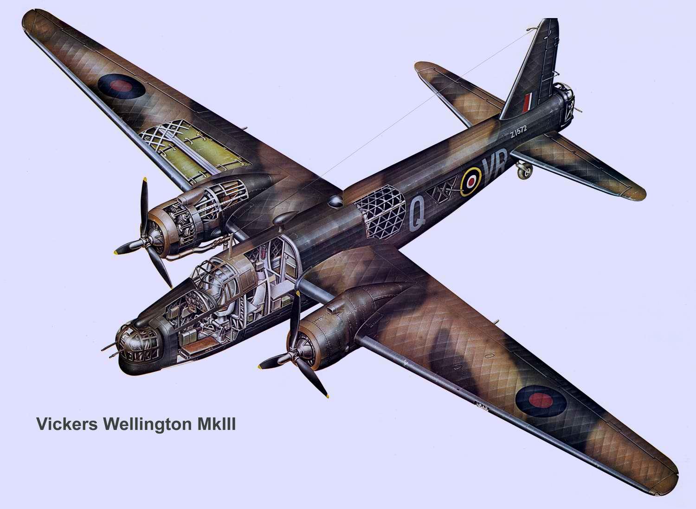 Vickers Wellington - средний бомбардировщик Виккерс Веллингтон, 1941 год (Великобритания)