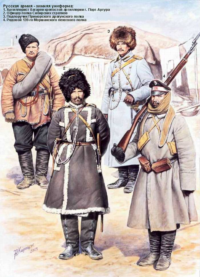 Русская армия в русско-японской войне - Зимняя униформа (Андрей Каращук)