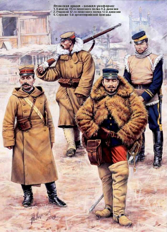 Японская армия в русско-японской войне - Зимняя униформа (Андрей Каращук)