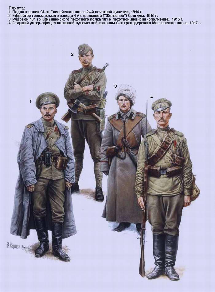 Русская армия в 1-й мировой войне - Пехота (Андрей Каращук)