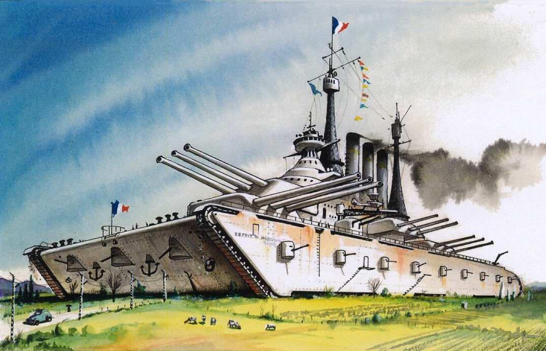 L'Esprit de Maginot - сухопутный броненосец для линии Мажино