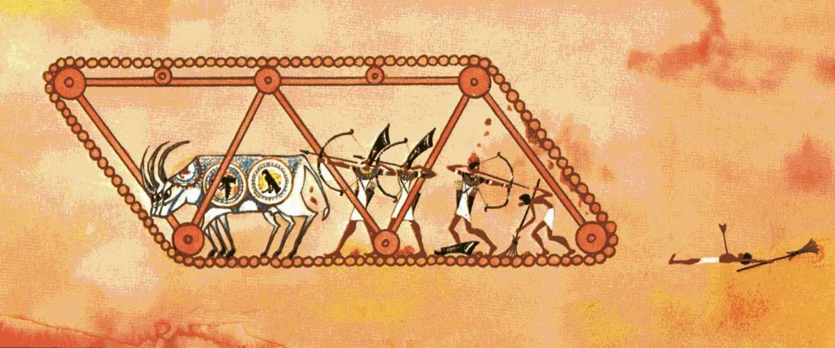 Древнеегипетский танк - интерпритация с фрески