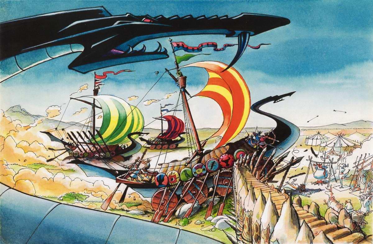 Колесные танки древних викингов