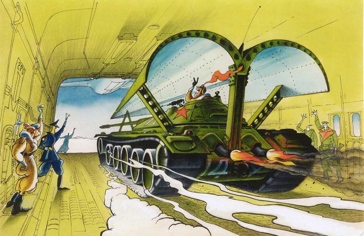 Советский воздушно-десантный танк на базе танка Т-34