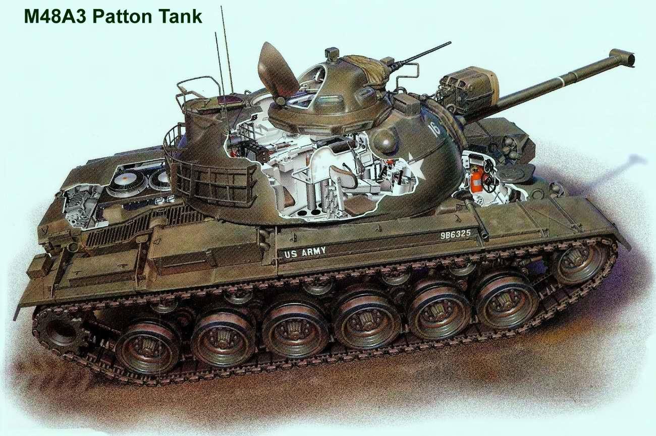 M48 Patton - средний танк Паттон 48, 1953 год (США)
