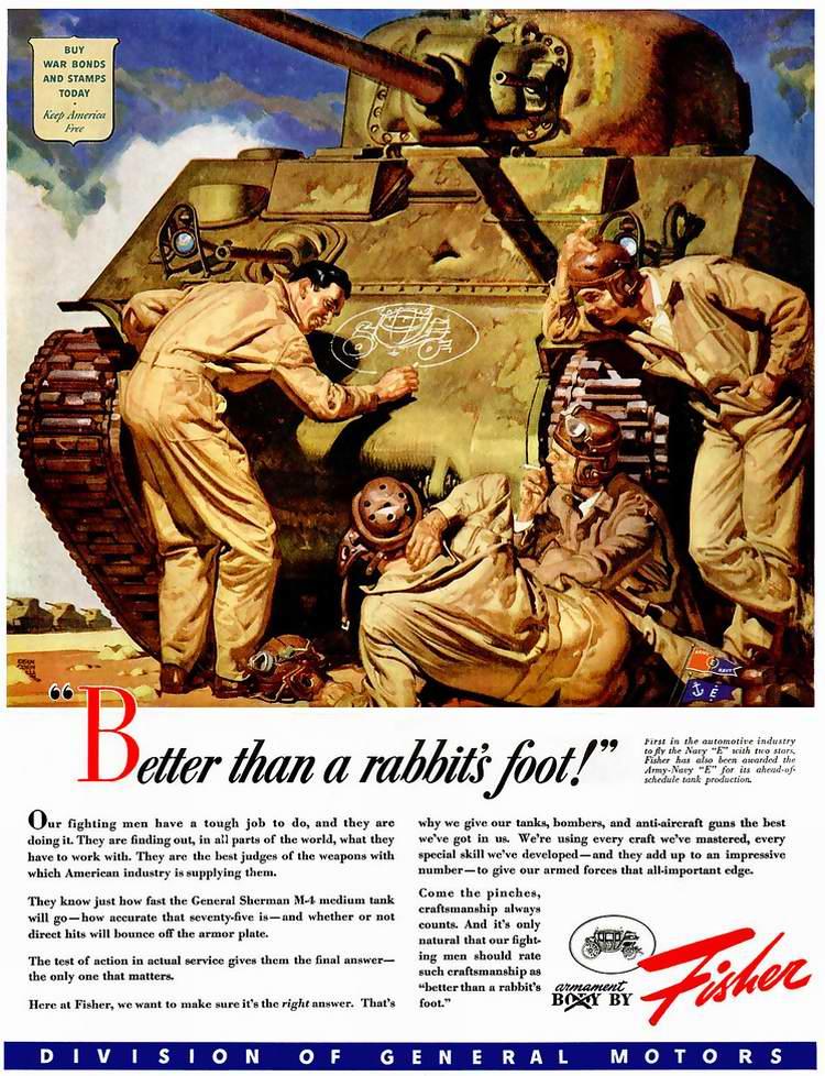 1943 год - Танковое вооружение от автомобильной корпорации Fisher Body