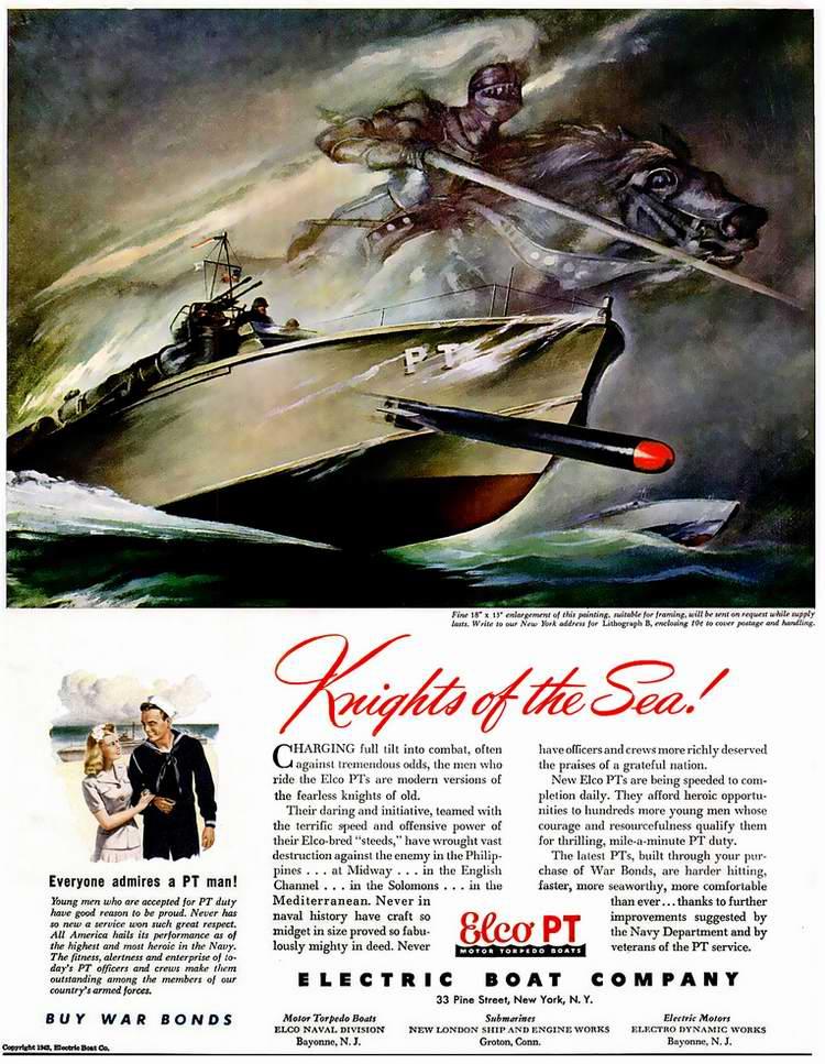 1943 год - Патрульные торпедные катера от Electric Boat Company