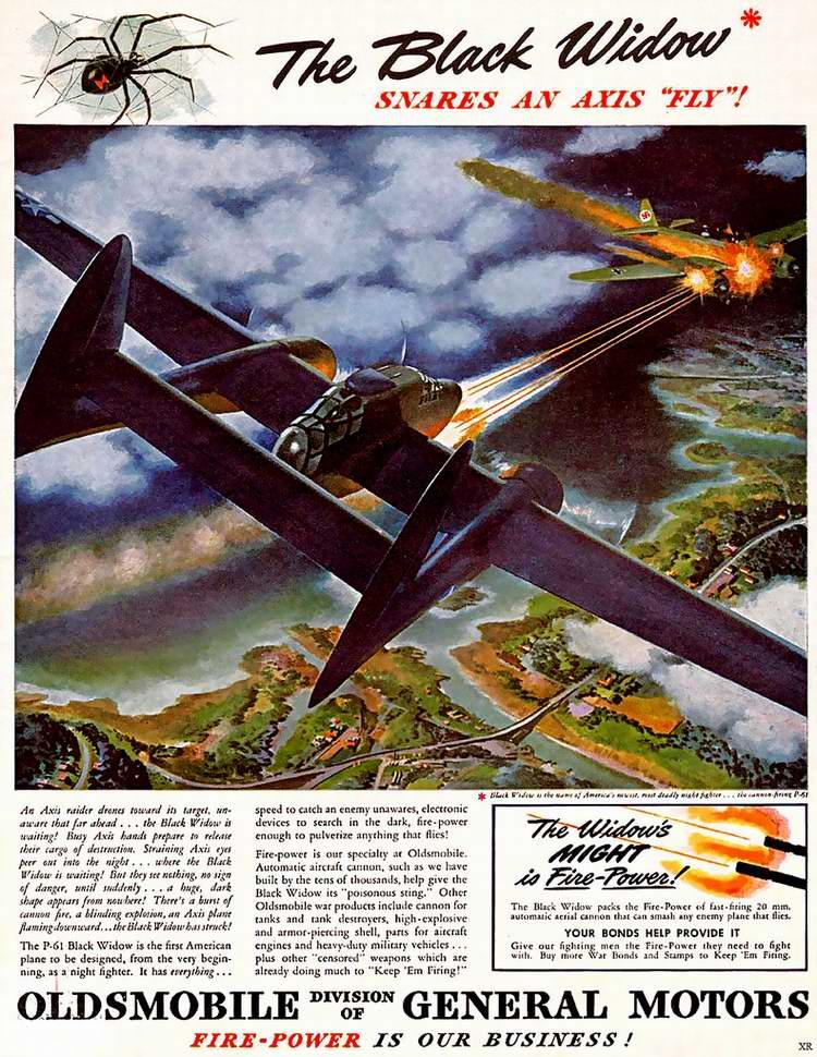 1944 год - Авиационное вооружение от автомобильной компании Oldsmobile (корпорация General Motors)