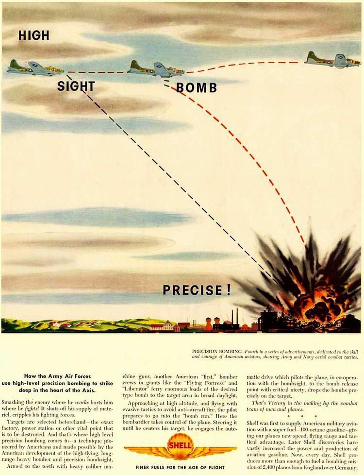 1944 год - Высокоточные авиационные бомбы с боевыми зарядами от компании Royal Dutch Shell