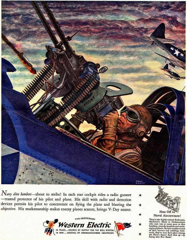1944 год - Полетная радиосвязь и вспомогательное электрооборудование для авиационного вооружения от компании Western Electric