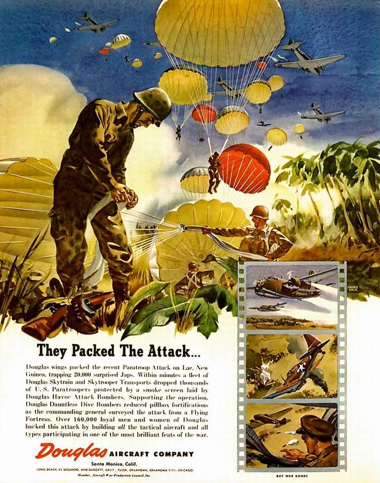 >1944 год - Десантная экипировка от авиастроительной компании Douglas Aircraft
