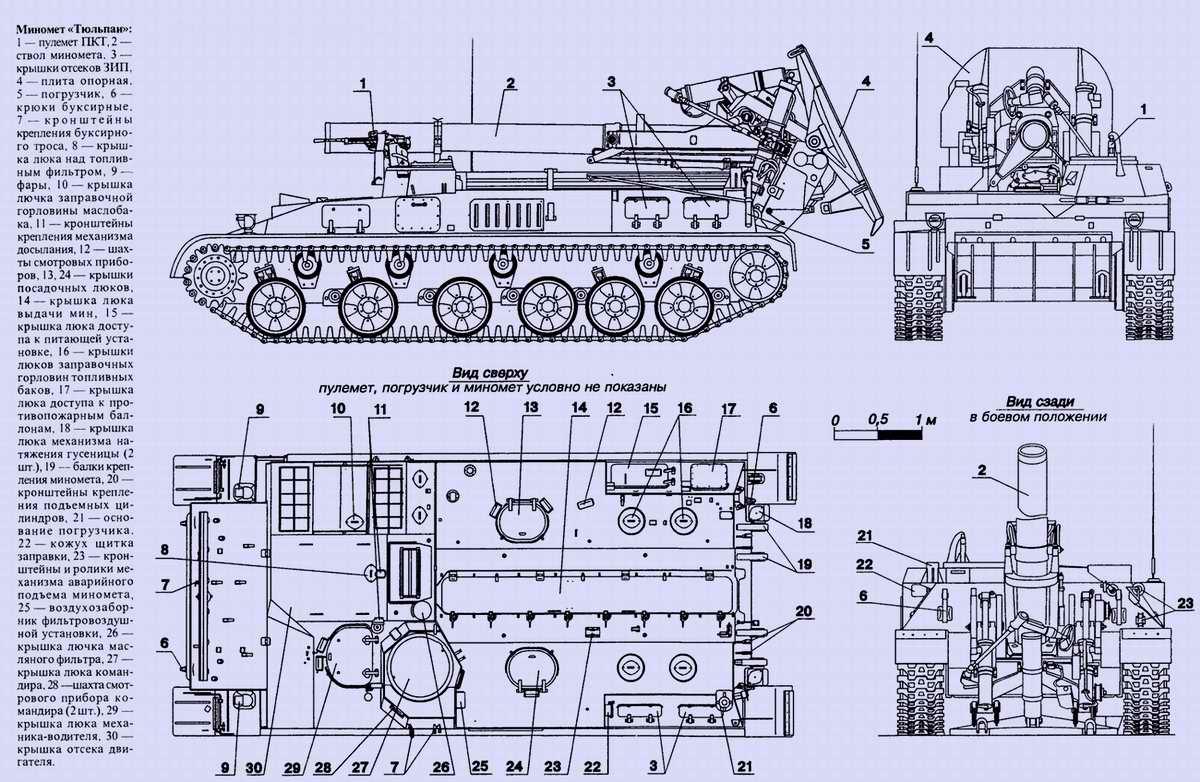 2С4 Тюльпан - 240-мм самоходная миномётная установка, 1972 год (CCCP)
