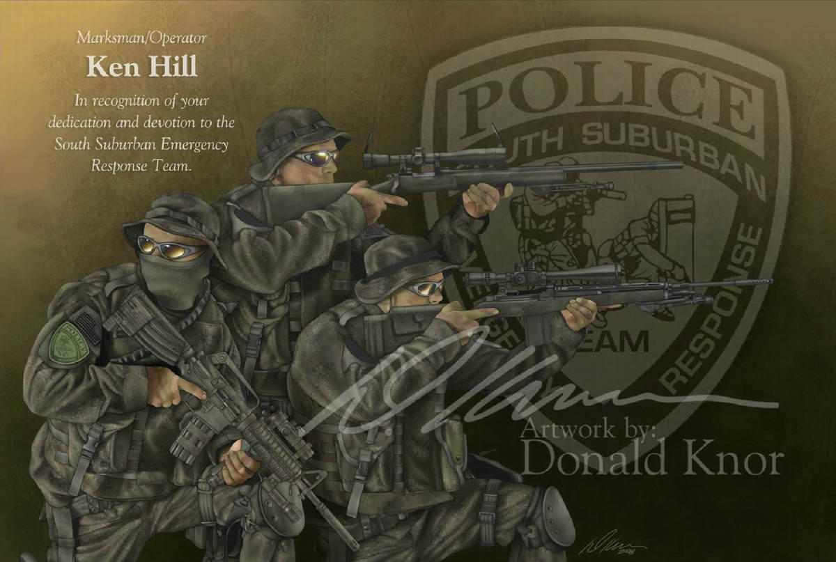Swat ssert снайперы региональной группы