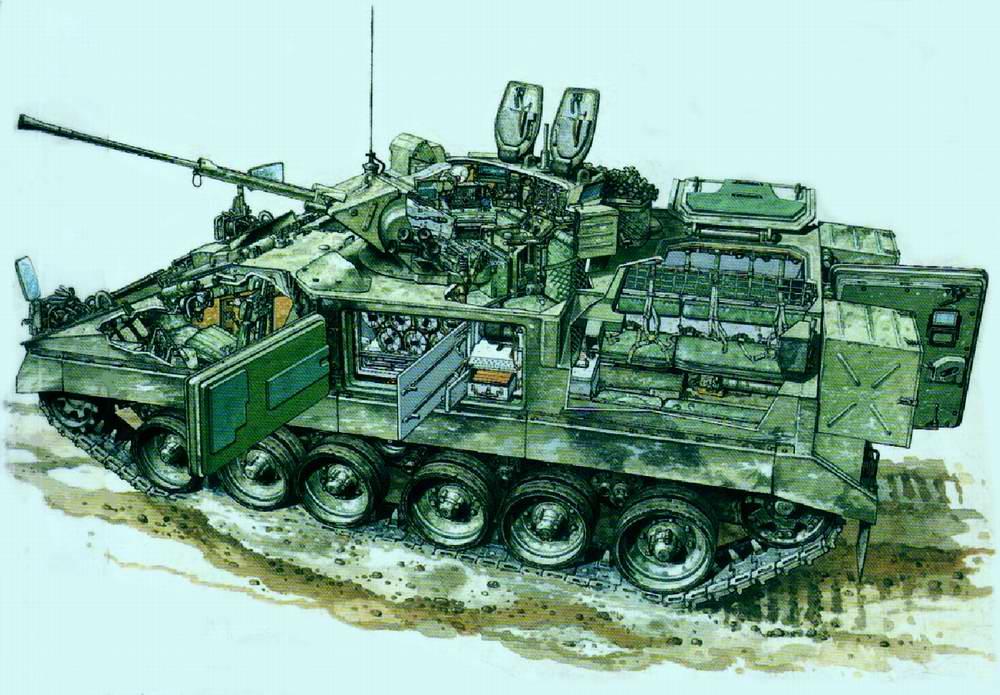 """Warrior MCV 80 - боевая машина пехоты """"Уорриор"""", 1985 год (Великобритания)"""