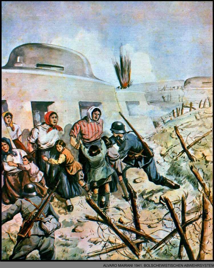 Большевистская система защиты - немецкие солдаты освобождают русских женщин и детей, которых Красная Армия использовала в качестве своего живого щита - Alvaro Mairani