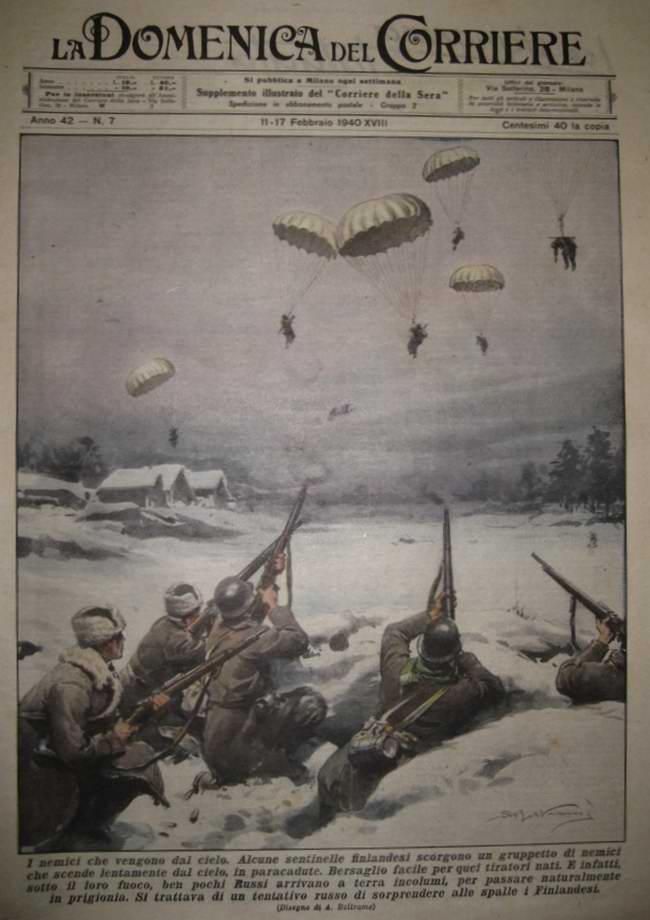 Финские солдаты срывают план Красной Армии по осуществлению неожиданной высадки десанта в их глубоком тылу - Achille Beltrame