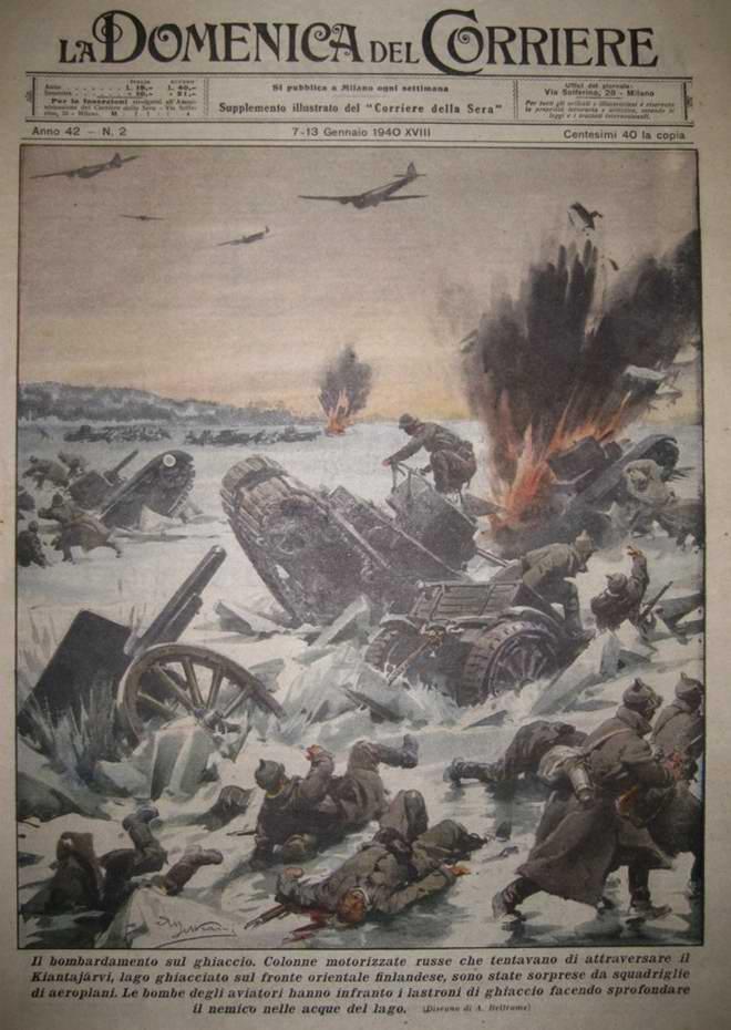 Разгом 163-й стрелковой дивизии Красной Армии на озере Клантаярви - Achille Beltrame