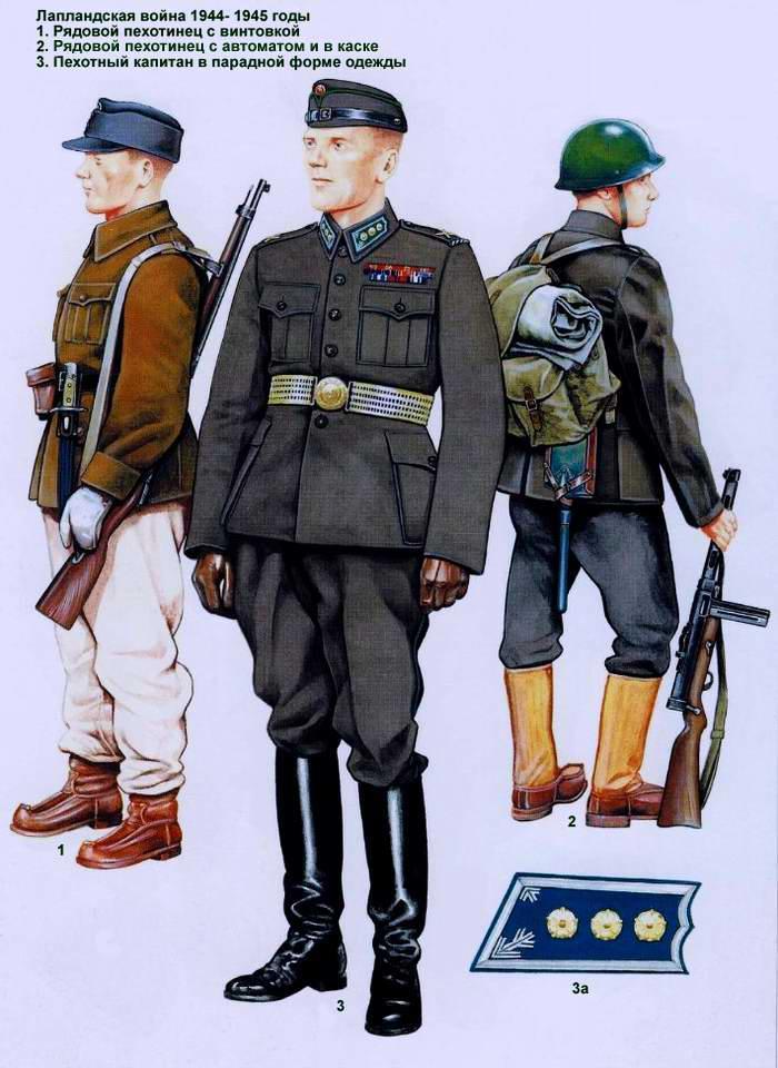 Солдаты и офицеры финской армии 1944 1945