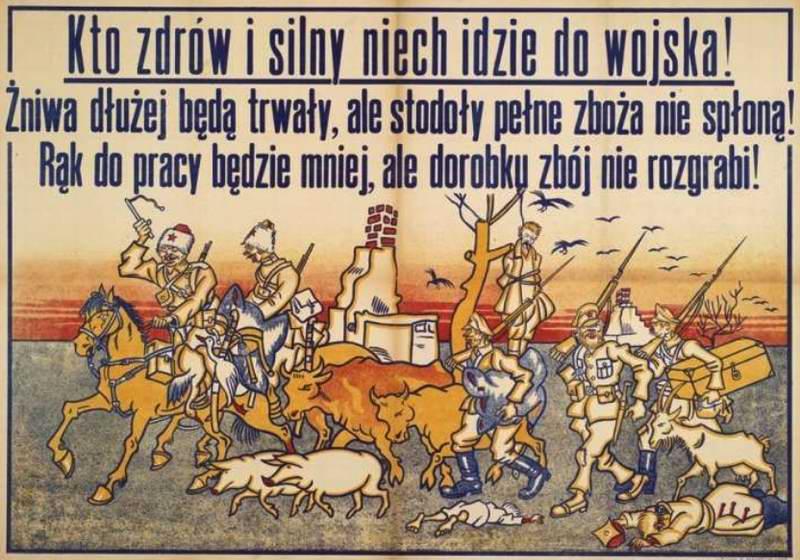 Каждый, кто является здоровым и сильным, должен идти служить в Войско польское (Arthur Szyk)