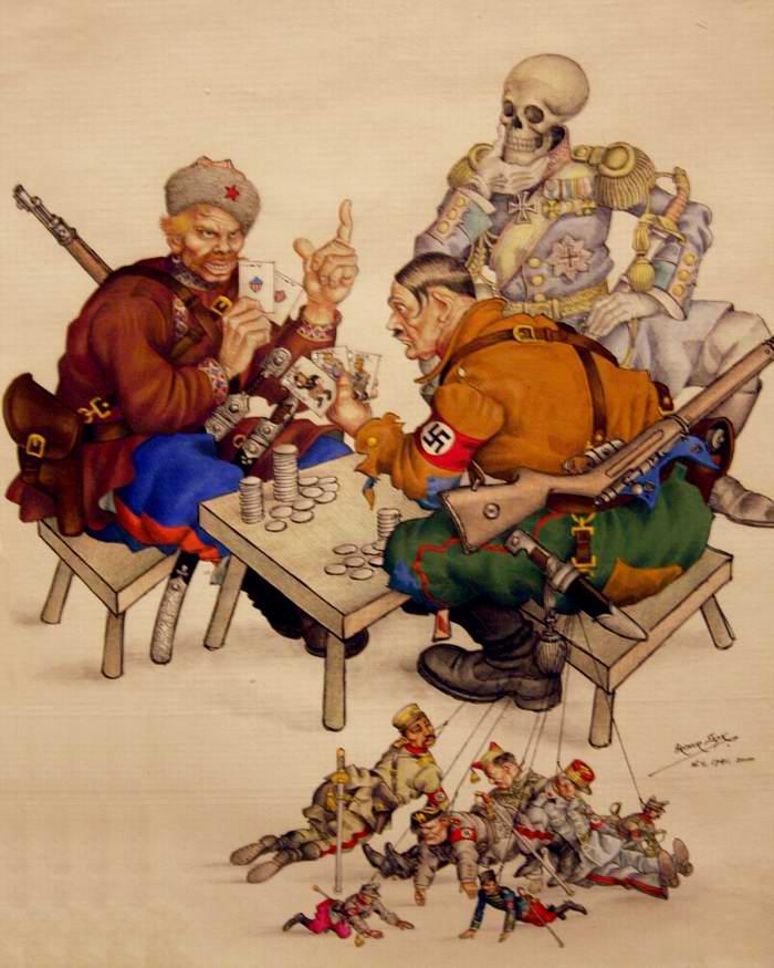 Азартные игроки со смертью (Arthur Szyk)