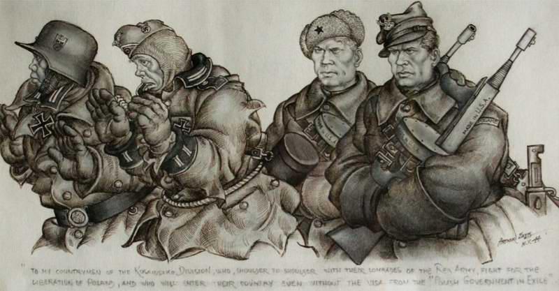 Воины из 1-й польской дивизии имени Тадеуша Костюшко - Arthur Szyk