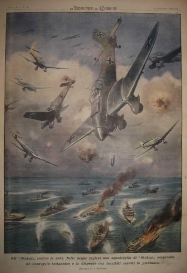 Немецкие Юнкерсы против британских кораблей - Achille Beltrame