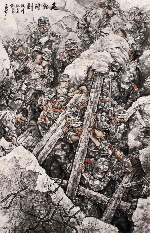 当代军旅绘画作品 - 潮河边人 - 潮河边人博客