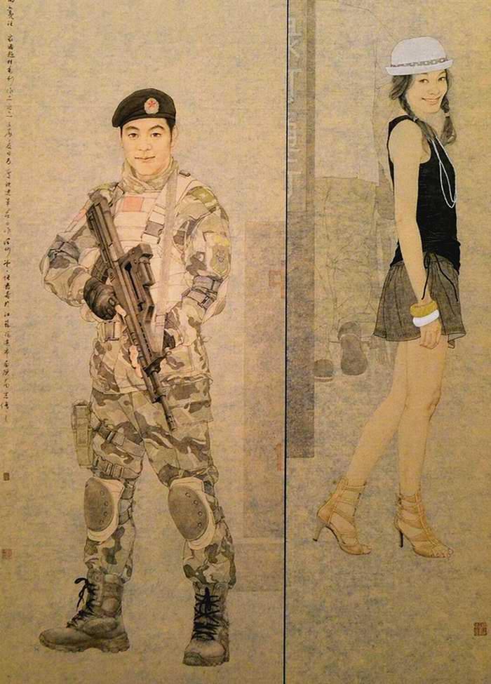 Они издалека обращают на себя наше внимание (Zhang Shuqing)