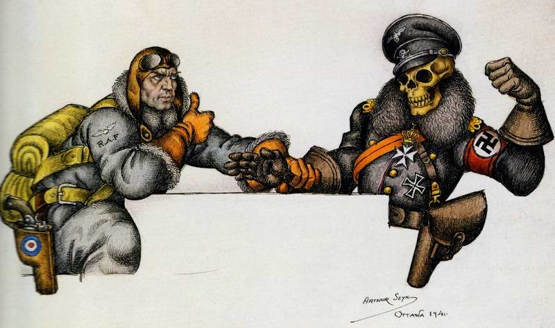 Игры с нацистской смертью (Arthur Szyk)