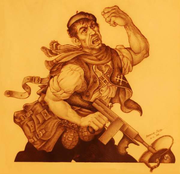 Греческий повстанец - Arthur Szyk