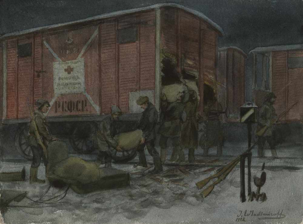 Ночное разграбление вагона с помощью от Красного креста - Иван Владимиров