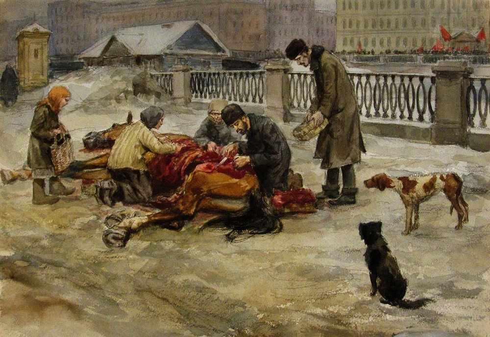 Разделка павшей лошади - Иван Владимиров