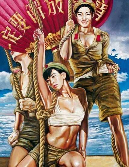 Армия Китая и женский гламур - 01