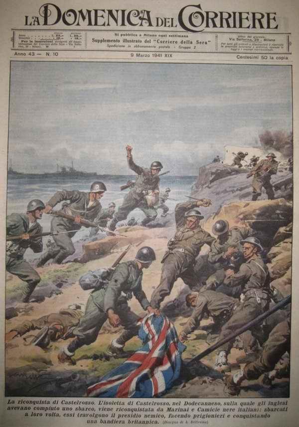 Итальянские подразделения производят высадку на греческий остров Кастелоризо и осуществляют разгром британских войск, оказавшихся на нем несколькими днями ранее - Achille Beltrame