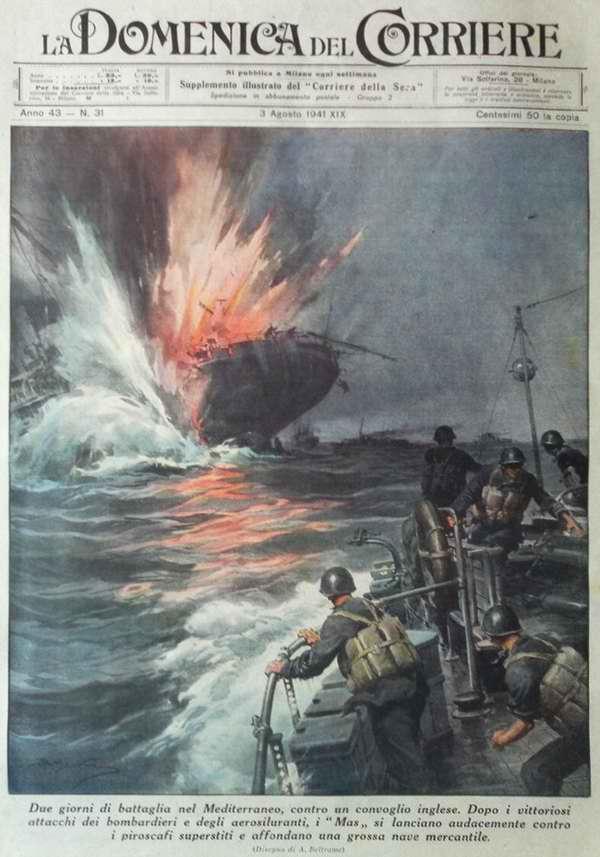 Двухдневное преследование британского конвоя в Средиземном море. После успешного завершения авиационной атаки за дело принимаются итальянские торпедные катера - Achille Beltrame