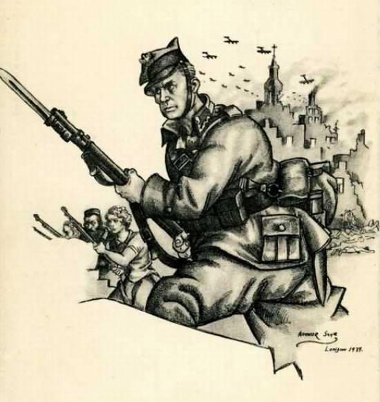 Защитим родную Польшу (Arthur Szyk)