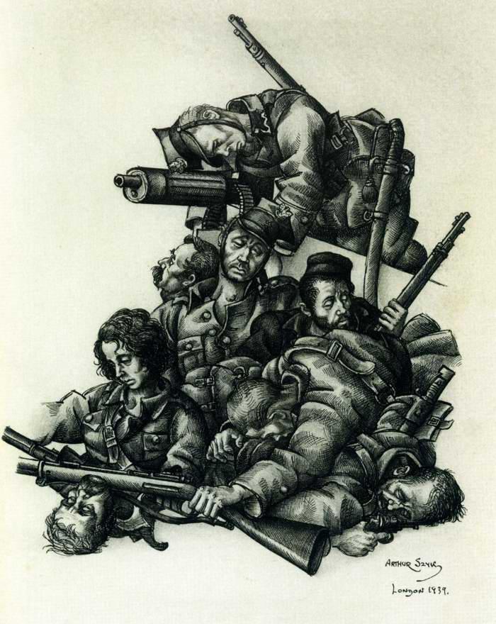 Слава павшим героям - Arthur Szyk