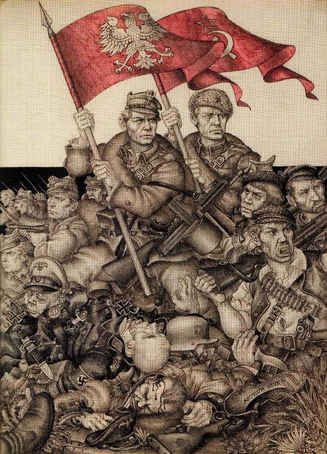 Россия освободила Польшу (Arthur Szyk)