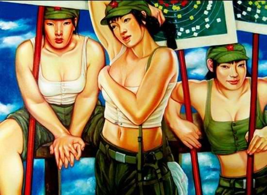 Армия Китая и женский гламур - 09