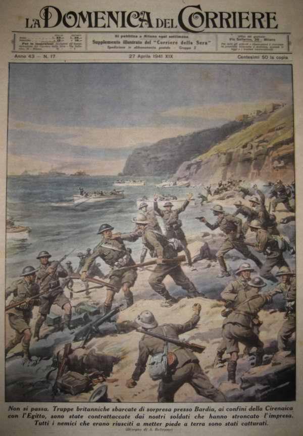 Все британские солдаты из десантной группировки сил, которым удалось высадиться на побережье на границе Киренаики и Египта, были захвачены в плен - Achille Beltrame