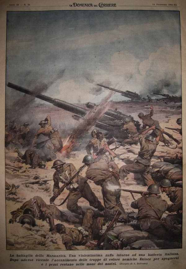 Боевые действия в Мармарике - Achille Beltrame