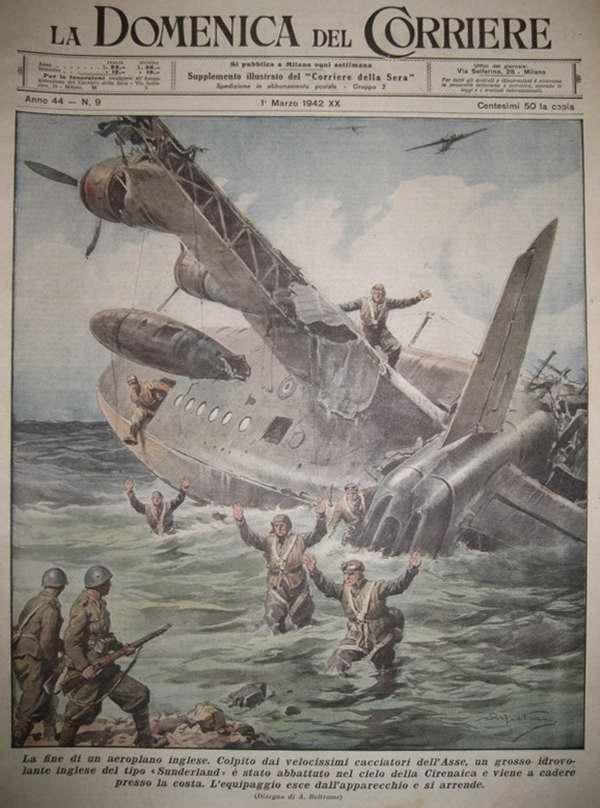 Конец одного британского самолета - Achille Beltrame