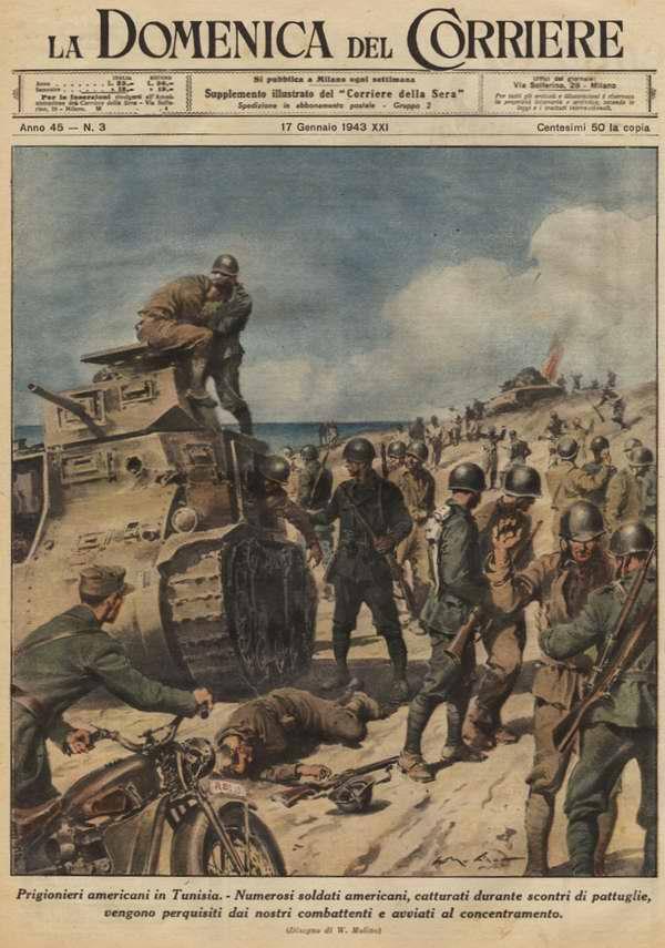 Военнопленные американцы в Тунисе - Walter Molino