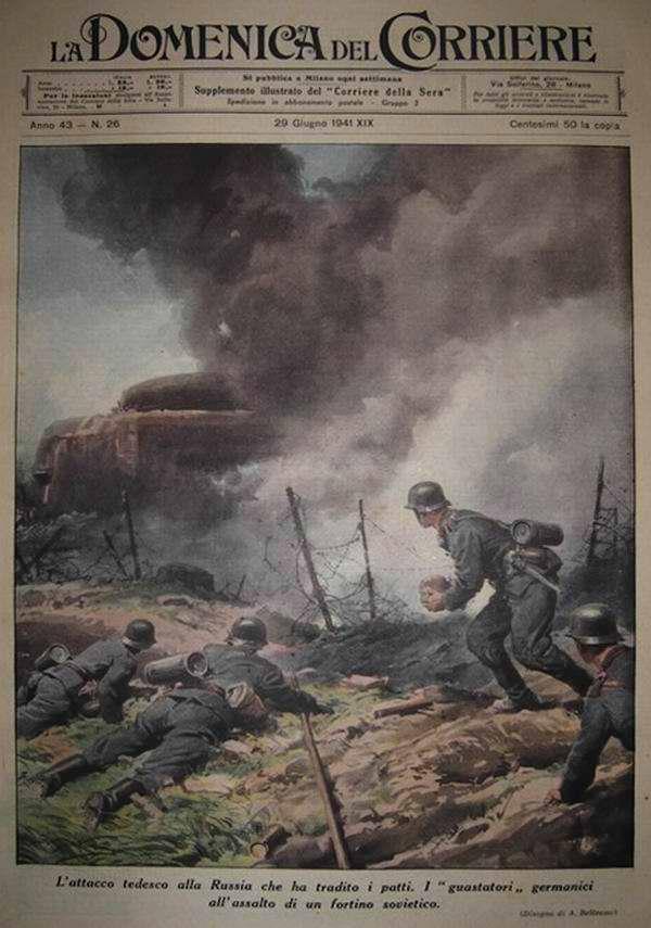Подразделение немецких саперов готовится к осуществлению подрыва советского укрепленного форта - Achille Beltrame