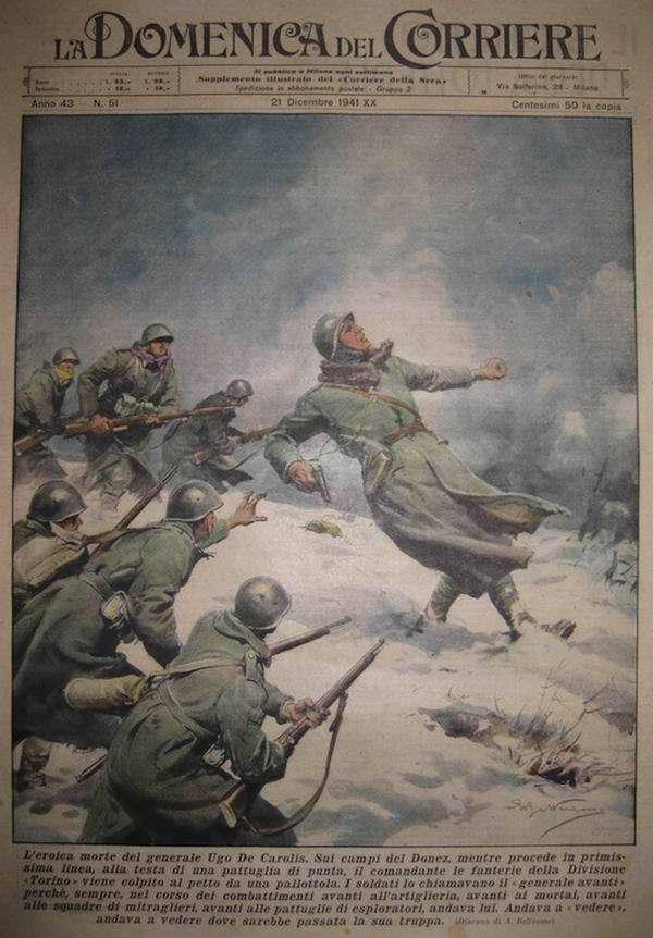 Смерть итальянского генерала Уго де Каролиса на территории Донецкой области - Achille Beltrame