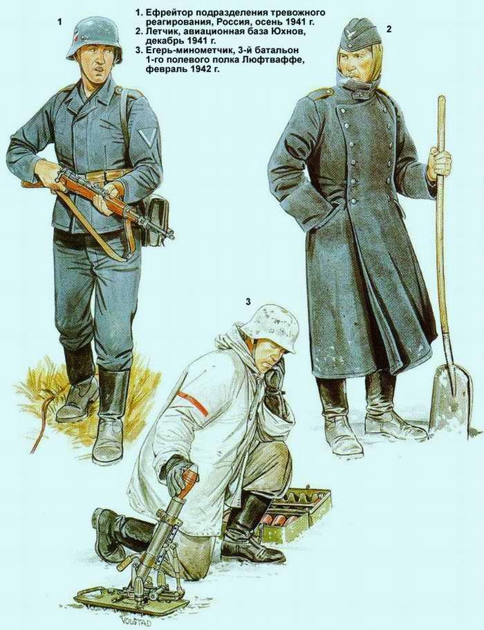 Солдаты полевых дивизий Люфтваффе и воинских частей, предшествовавших их появлению (1941 - 1942 г.г.